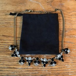 J. Crew crystal and enamel flower necklace